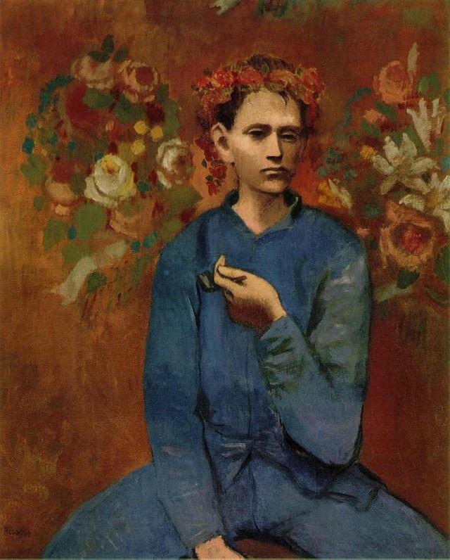 """7 - """"Garçon à la pipe"""" (Cậu trai và chiếc tẩu thuốc - 1905) của danh họa người Tây Ban Nha Pablo Picasso đứng thứ 7 với mức 104,2 triệu USD trả giá hồi năm 2004, giờ đây, con số ấy tương đương 132,1 triệu USD (3.002 tỷ đồng)."""