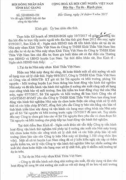 Thêm bằng chứng tố sự bất chấp pháp luật của doanh nghiệp chống lệnh Chủ tịch tỉnh Bắc Giang! - 2
