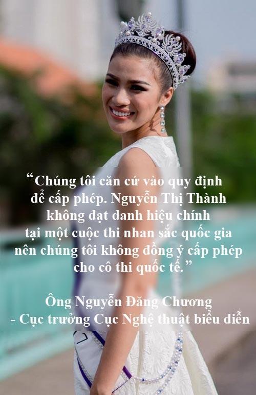 Xem thêm: Người đẹp Nguyễn Thị Thành sẽ bị cấm diễn trên toàn quốc vì cố tình thi chui