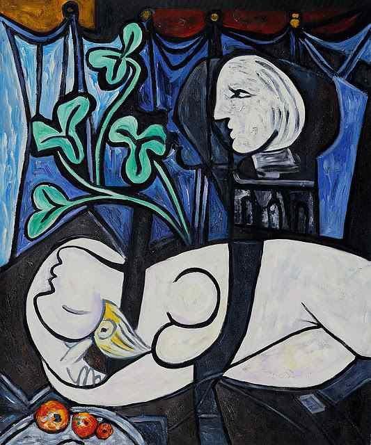 """9 - """"Nude, Green Leaves and Bust"""" (Khỏa thân, lá xanh và bầu ngực - 1932) của danh họa người Tây Ban Nha Pablo Picasso. Bức tranh từng được mua với giá 106,5 triệu USD hồi năm 2010, giờ đây, con số ấy tương đương 116,9 triệu USD (2.656 tỷ đồng)."""