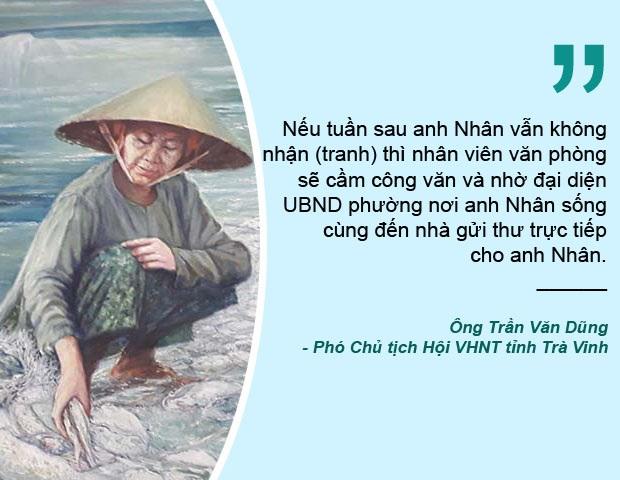 Xem thêm: Sau vụ kỷ luật, Trà Vinh mời họa sĩ Nguyễn Nhân đến nhận lại tranh