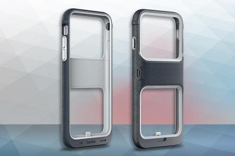 Ốp lưng tích hợp pin và bộ nhớ gắn ngoài iXpand Memory Case của SanDisk