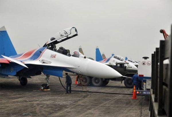 Hình ảnh phi đội Su-30SM dũng mãnh tại Nội Bài - 3