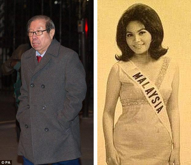 Ông Khoo (ảnh trái) và bà Pauline Chai thời trẻ khi vừa trở thành Hoa hậu Malaysia (ảnh phải).