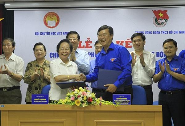 Lễ ký kết hợp tác giữa Hội Khuyến học Việt Nam và T.Ư Đoàn TNCS HCM.