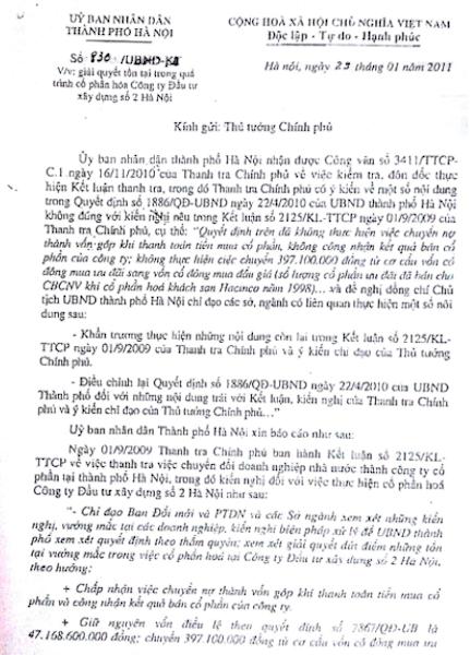 Vụ cổ phần hóa HACINCO: Phó Thủ tướng Trương Vĩnh Trọng từng chỉ đạo thế nào? - 2