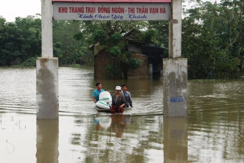 Sự cố khiến một số vùng bị ngập lụt