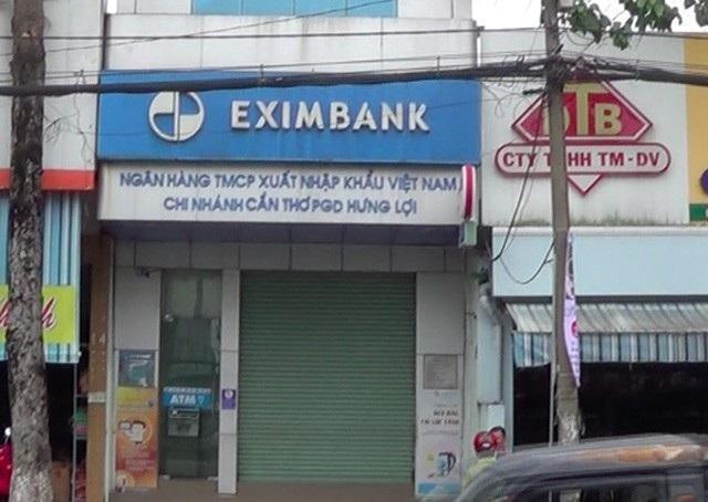 Ngânn hàng Eximbank chi nhánh Hưng Lợi, nơi đối tượng Linh chuẩn bị thực hiện vụ cướp