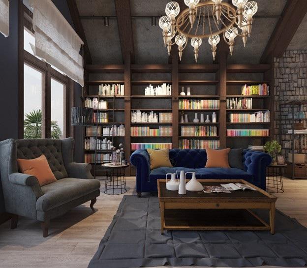 """Tác phẩm """"Hoài niệm trong không gian phòng khách đương đại"""", kiến trúc sư Huỳnh Bá Anh Tuấn"""
