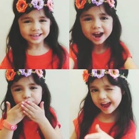 """Cô bé người Anh Xia Vigor hiện là ngôi sao nhí rất được """"cưng"""" trên sóng truyền hình Philippines."""