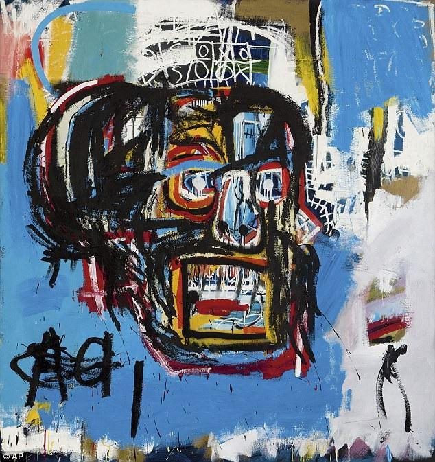 """12 - """"Untitled"""" (Không đề - 1982) của họa sĩ Mỹ Jean-Michel Basquiat hiện tại đứng thứ 12 với mức giá 110,5 triệu USD (tương đương 2.511 tỷ đồng)."""