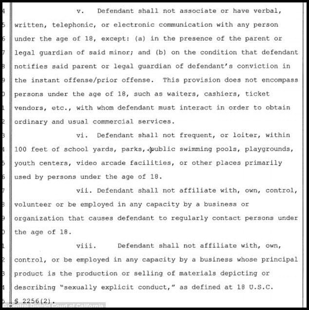 Tất cả những cam kết mà Salling đã ký với nhà chức trách là để được hưởng khoan hồng của pháp luật.