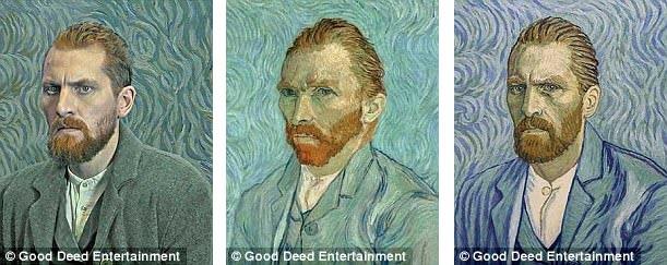 """Từng khuôn hình trong """"Loving Vincent"""" đều là các bức tranh sơn dầu được vẽ tay theo phong cách của Van Gogh, lấy cảm hứng từ các tác phẩm hội họa của ông để tạo nên những khuôn hình giao thoa giữa câu chuyện điện ảnh và siêu phẩm hội họa."""