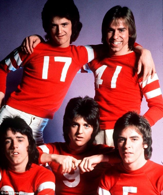 Nhóm nhạc Bay City Rollers thời kỳ hoàng kim thập niên 1970.