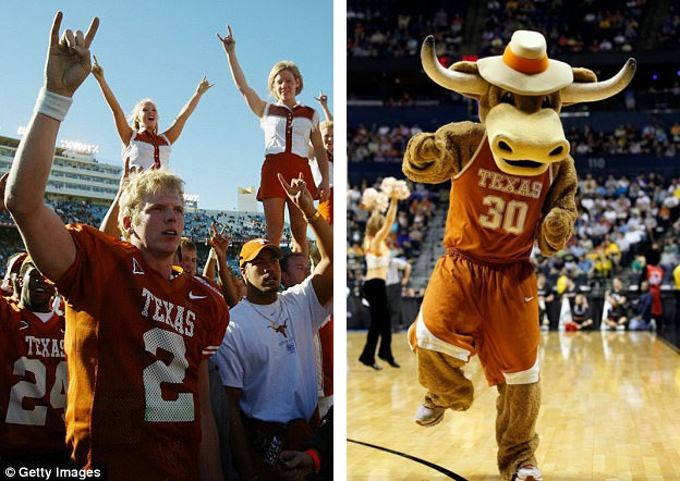 Nhưng ngay cả trước khi biểu tượng này phổ biến trong thế giới nhạc rock, thì động tác tay trứ danh đã có một lịch sử hình thành từ trước đó khá lâu. Chẳng hạn, đội bóng bầu dục và bóng rổ của Đại học Texas (Mỹ) đã sử dụng biểu tượng tay này với ý nghĩa là cặp sừng bò (hình ảnh biểu tượng của đội) khi tham gia các trận thi đấu kể từ năm 1955.