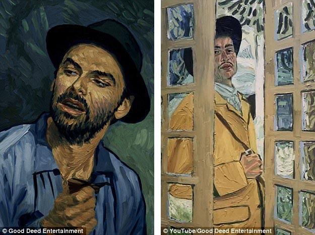 Để thực hiện bộ phim, người ta đã phải mời tới 125 họa sĩ để thực hiện các bức tranh sơn dầu, tạo nên các khuôn hình đầy vẻ đẹp hội họa cho phim.