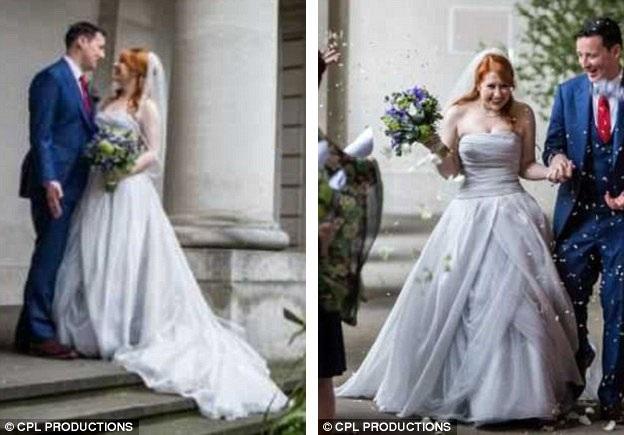Giờ đây, Caroline đang rao bán trên mạng chiếc váy cưới mà cô đã mặc trong hôn lễ với giá 850 bảng Anh (24 triệu đồng).