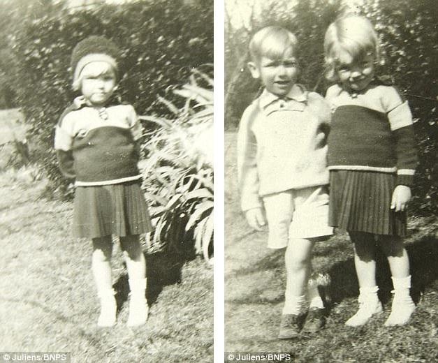 Những bức ảnh này chụp Marilyn Monroe năm lên 4 tuổi. Khi đó, cô bé vẫn còn mang tên thật của mình là Norma Jeane Baker. Cậu bé đứng bên Norma Jeane trong ảnh là Lester Bolender - một cậu bé được gia đình Bolender nhận nuôi.