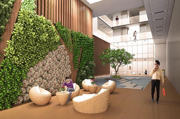 Từng chi tiết trong mỗi tòa nhà được chăm chút hết sức công phu để người dân khi trở về nhà như trở về khu nghỉ dưỡng cao cấp
