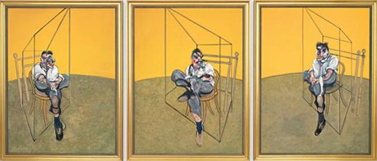 """Bộ tranh """"Three Studies of Lucian Freud"""" (Ba nghiên cứu về Lucian Freud - 1969) của danh họa người Anh Francis Bacon đứng thứ tư với mức giá 142,4 triệu USD, trả giá hồi năm 2013. Hiện giờ, mức giá ấy tương đương 146,4 triệu USD (3.327 tỷ đồng)."""