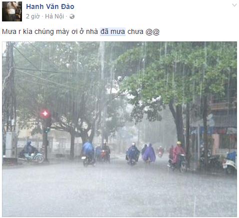 Mưa to xuất hiện khiến nhiều tuyến đường đối mặt nguy cơ ngập lụt.