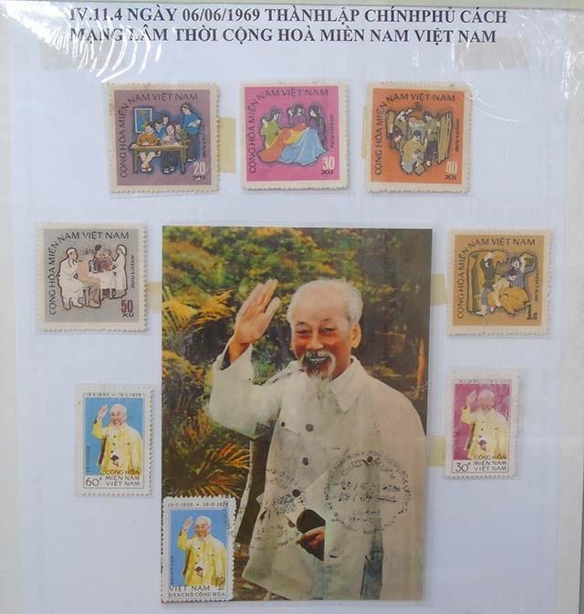 Các bộ sưu tập tem về cuộc đời và sự nghiệp của Bác được Bưu điện Cần Thơ sư tầm và triển lãm nhân dịp 19/8