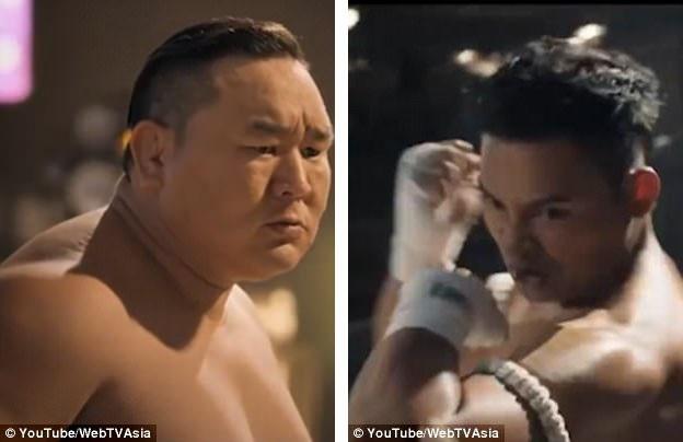 Võ sĩ sumo đã giải nghệ người Mông Cổ - Asashoryu Akinori (trái) và nam diễn viên võ thuật người Thái Lan - Tony Jaa (phải) cũng xuất hiện trong phim.
