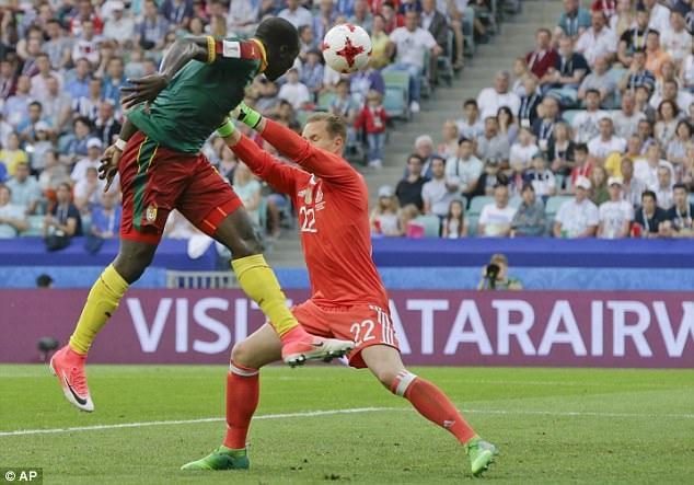 Cameroon chỉ ghi được 1 bàn thắng duy nhất ở phút 78 nhờ công Aboubakar
