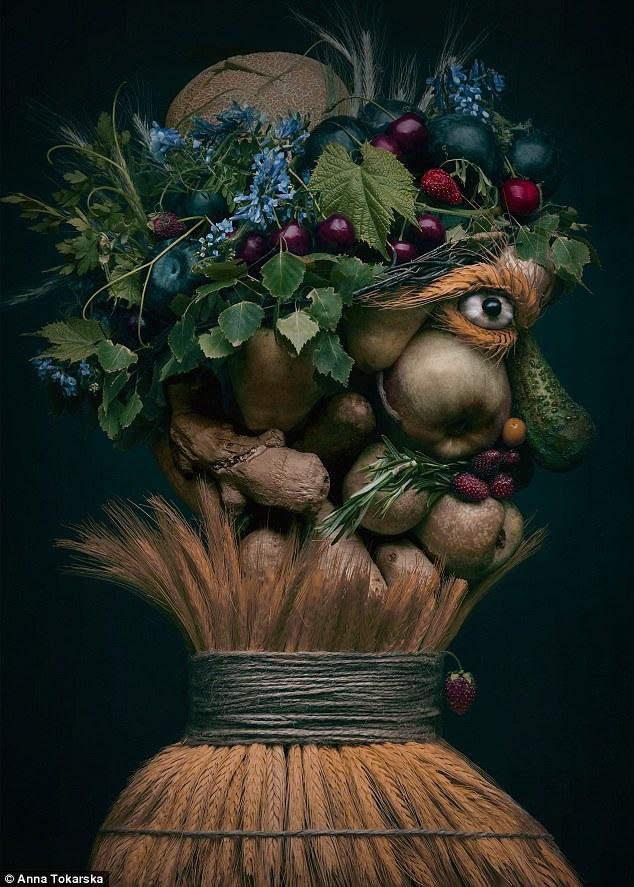 Các tác phẩm của Anna được lấy càm hứng từ nghệ sĩ người Ý sống ở thế kỷ 16 - Giuseppe Arcimboldo, người được xem là cha đẻ của trường phái siêu thực. Các tác phẩm của Giuseppe cũng đều khắc họa tĩnh vật tạo nên những gương mặt người.