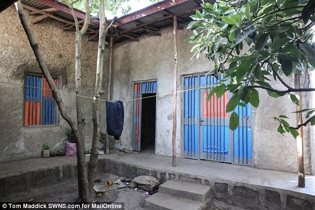 Ngôi nhà khiêm tốn của chị Mentewab ở miền trung Ethiopia.