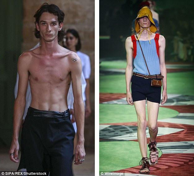 Ngày càng có nhiều thương hiệu thời trang nam đình đám sử dụng người mẫu gầy gò.