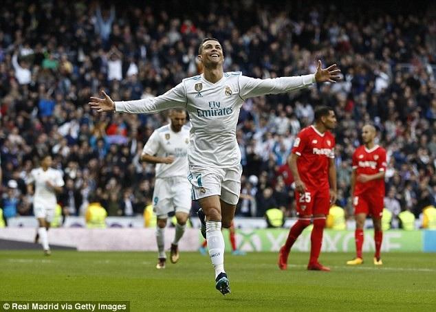 C.Ronaldo tỏa sáng với cú đúp vào lưới Sevilla