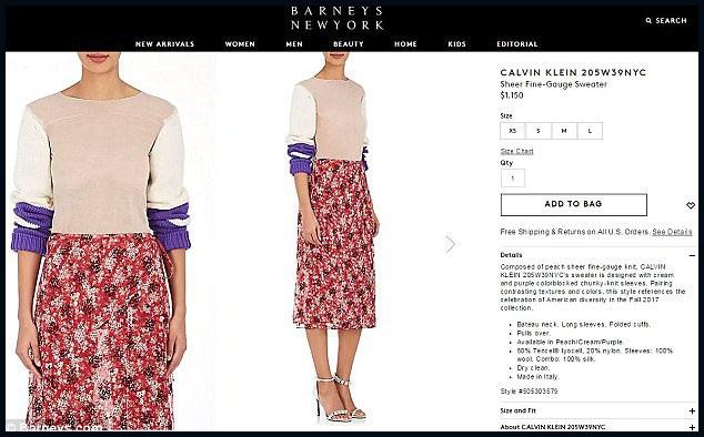 "Một số hãng bán lẻ thời trang khác còn chủ động chỉnh sửa hình ảnh làm cho phần vải trong suốt xuyên thấu trở nên mờ đục, dù vậy, thực tế trình diễn trên sàn catwalk cũng như trên một số website bán lẻ khác, mẫu áo len mùa thu này thực sự ""xuyên thấu""."