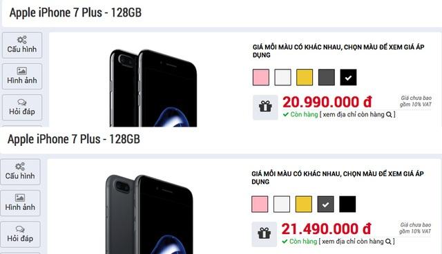 Điều tương tự cũng xảy đến với iPhone 7 Plus màu Jet Black.