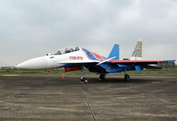 Hình ảnh phi đội Su-30SM dũng mãnh tại Nội Bài - 5