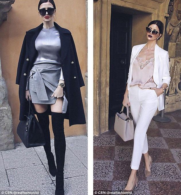Tình yêu dành cho thời trang đã giúp Zaklina (vốn sinh ra ở Serbia) trở thành một biểu tượng thời trang, một hot blogger trên mạng xã hội.
