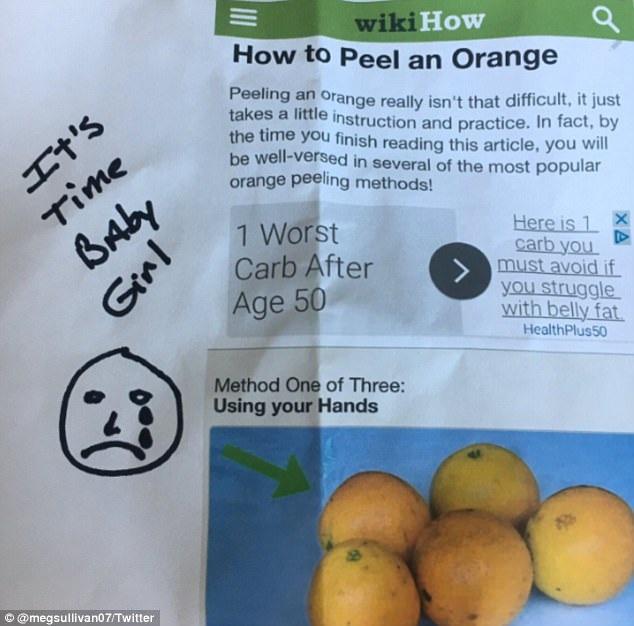 Kể từ khi đi học mẫu giáo, cha của Meg đã luôn là người gọt sẵn cam cho con mang đi học để dùng làm đồ tráng miệng cho bữa trưa.