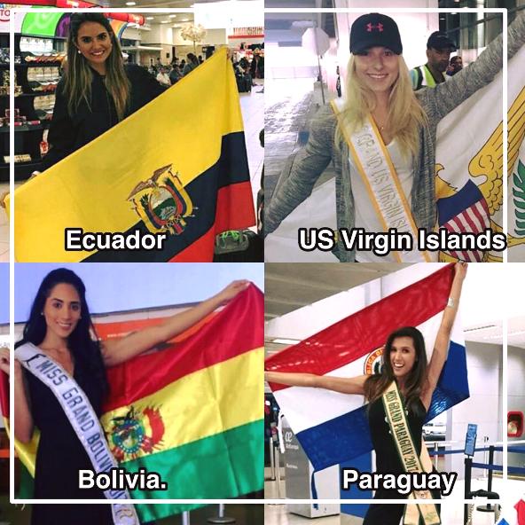 Trên trang Miss Grand International chia sẻ hình ảnh một số hoa hậu đã lên đường sang Việt Nam, trong đó có hoa hậu Ecuador, hoa hậu quần đảo US Virgin, hoa hậu Bolivia, hoa hậu Paraguay.