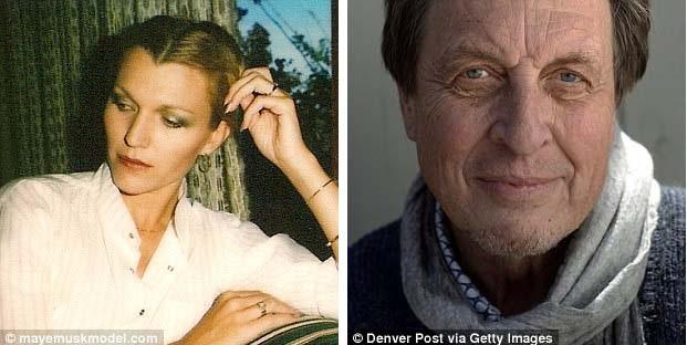 Bà Maye và ông Errol Musk (phải) có cuộc hôn nhân kéo dài 9 năm thì chia tay. Họ có 3 người con trước khi ly hôn.
