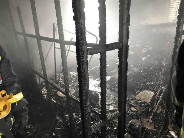 Hiện trường vụ cháy tại Đài Loan (Ảnh: Taiwannews)
