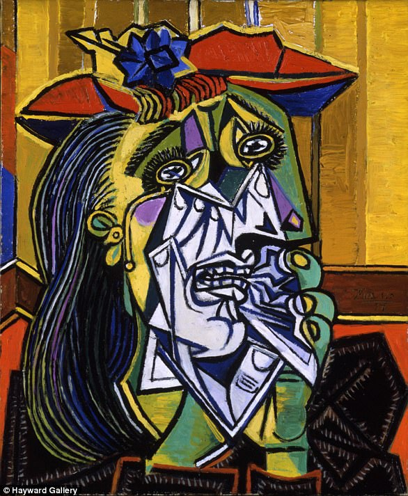 """Trong các bức họa Picasso vẽ Dora Maar, nổi tiếng nhất là bức """"Weeping Lady"""" (Người phụ nữ lau nước mắt)."""