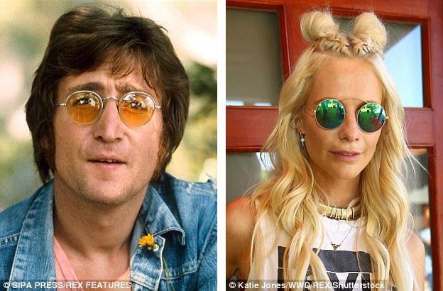 Những chiếc kính tròn là món đồ phụ kiện thời trang từng gắn liền với hình ảnh John Lennon (trái). Giờ đây, kính gọng tròn trở lại với những phong cách thiết kế ấn tượng và hiện đại.