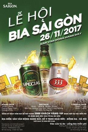 Người dân Hà Nội nóng lòng chờ đón Lễ hội Bia Sài Gòn - 1