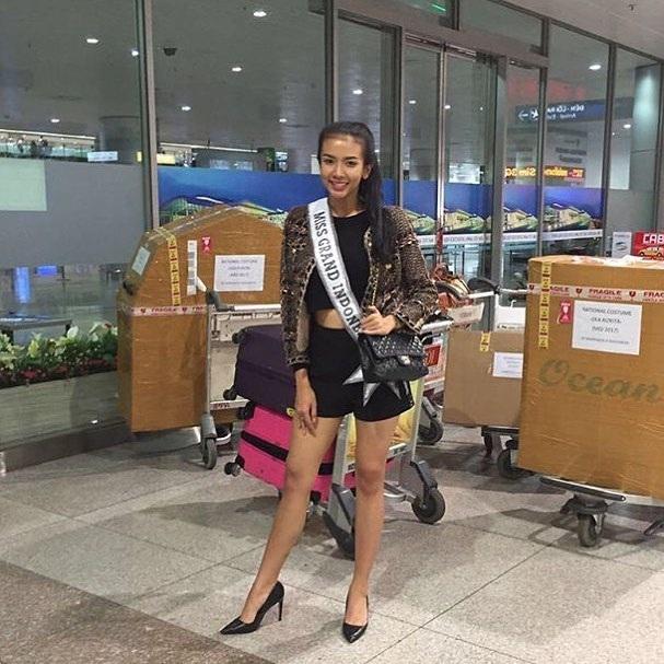 Hoa hậu Indonesia là một trong những người đến Việt Nam sớm nhất.