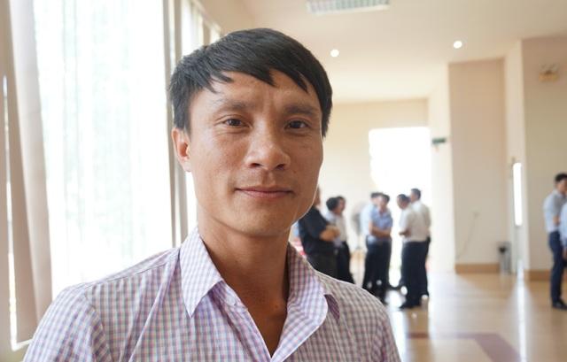 Anh Phạm Văn Hòa mong muốn sớm được bố trí công việc khi dự án kết thúc