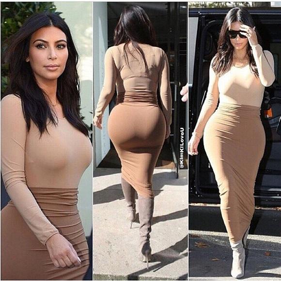 """Nhan sắc """"siêu vòng 3"""" của giới showbiz Mỹ - Kim Kardashian - nếu muốn tham gia cuộc thi này cũng sẽ bị đánh trượt ngay từ đầu, bởi vòng 3 của Kim lên tới 109cm, vượt qua giới hạn 107cm."""