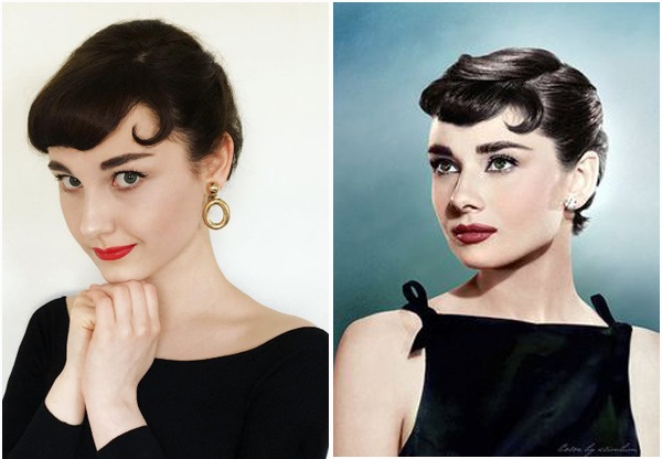 """Hóa thành nữ diễn viên Audrey Hepburn trong phim """"Sabrina"""" (1954)."""