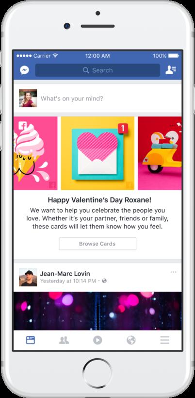 Chơi tính năng độc trên Facebook trong ngày lễ Valentine - 1
