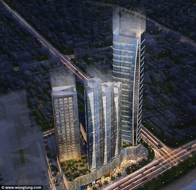 Wu đã ngã từ nóc của tòa nhà cao 62 tầng.