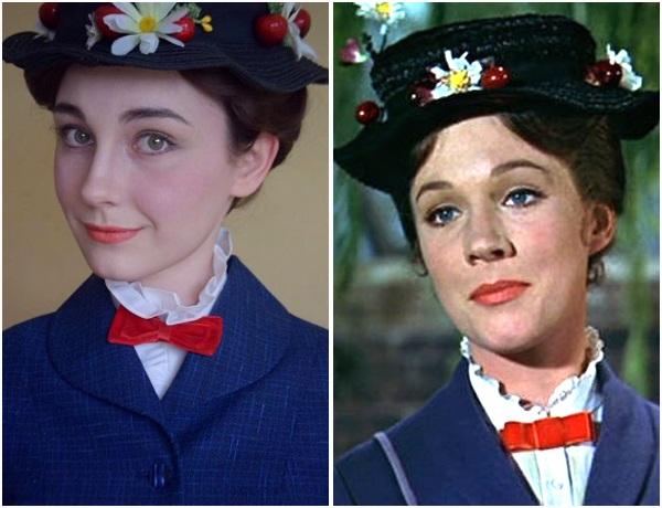 """Nhân vật Mary Poppins do nữ diễn viên Julie Andrews đảm nhận trong phim """"Mary Poppins"""" (1964)."""